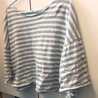 Lulus韓版條紋寬鬆上衣