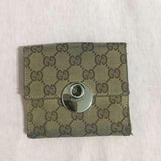 🚚 正品 Gucci 錢包 皮夾 短夾