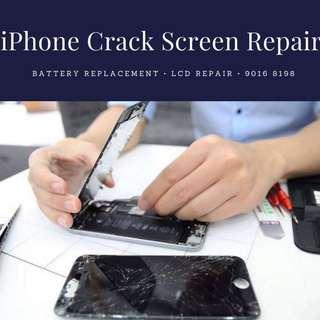 Fix iPhone Cracked Screen Iphone 7 lcd repair phone repair