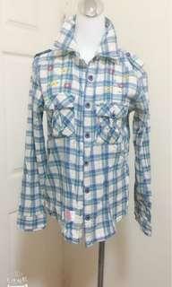 🚚 major水藍色襯衫