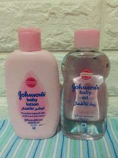 Johnsons and Johnsons Baby Lotion and Baby Oil