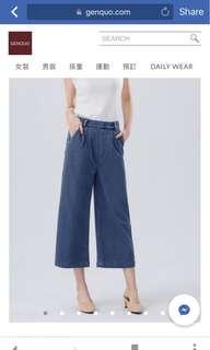 全新Size M Genqlo 牛仔寬褲 (nude, studio doe, ingrid, cover.com, cover, 小安)