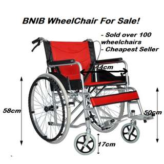 Wheelchair (BNIB) - Foldable