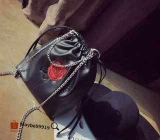 玫瑰刺繡包