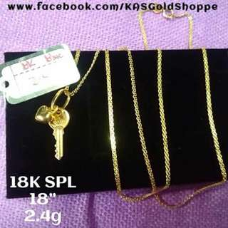 ONHAND! 18K SD GOLD NECKLACE
