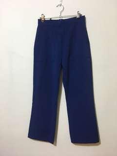 Blue cropped pants