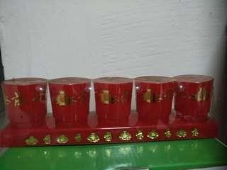 Plastics praying cups set of 5