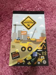 Construction Stickers Booklet