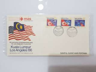 Malaysian first day cover MAS 1986 airline