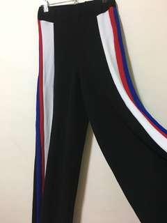 Black wide pants - streetwear