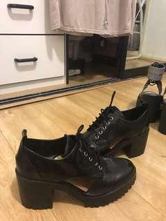 Zara cutout platform boots