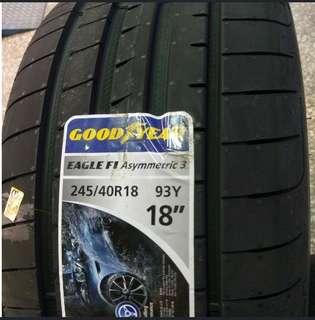 Goodyear F1A3 Eagle Tyres 245/40R18