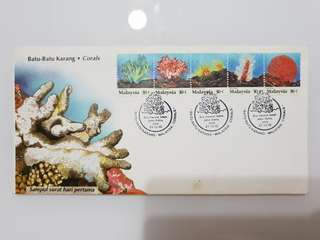 FDC on Corals undersea 1992