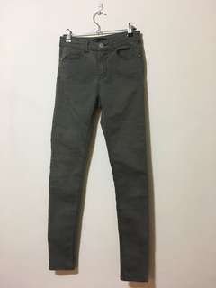 Grey Green Jeans
