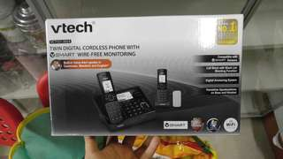 Vtech smart phone 子母機- Twin Digital Cordless Phone with Smart Wire-free Monitoring