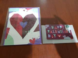 Starbucks USA Limited Edition Valentines Day 2018 Card Set (Brand New)