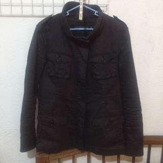 Uniqlo Black Leather Jacket