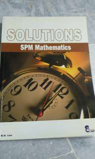 Spm mathematics solutions