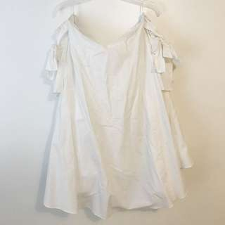 zara bow off the shoulder dress - size large
