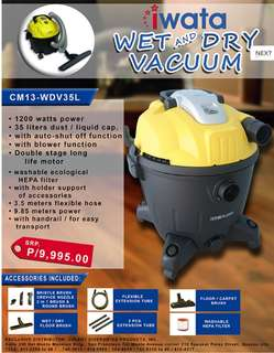 Iwata Wet and Dry Vacuum 35L
