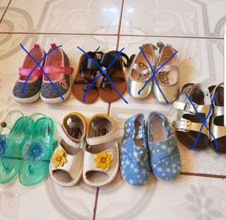 Shoes bundle for 2-3 years old girl