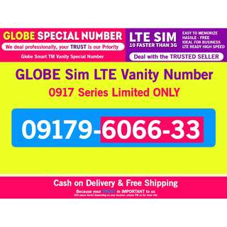 Globe Sim LTE Vanity Classic Number 0917 Series Limited Only Fixed Price