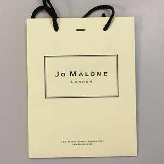 Jo Malone Paper Bag Box  名牌原裝紙袋包裝袋