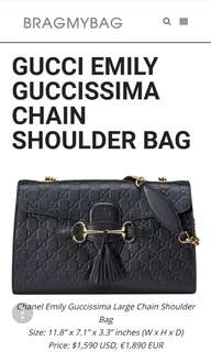 Gucci Guccisima Emily Shoulder Purse