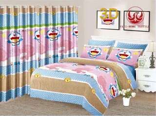 3D 5in1 BEDSHEETS (semi cotton)