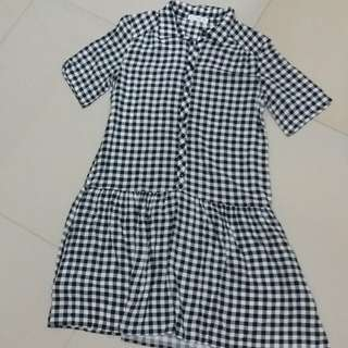 Mango Gingham Dress