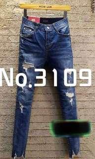 韓國牛仔褲 (全新)中碼(M)