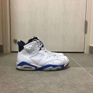 Air Jordan 6 Retro sports blue
