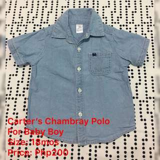 Carter's Chambray Polo (for Baby Boy)