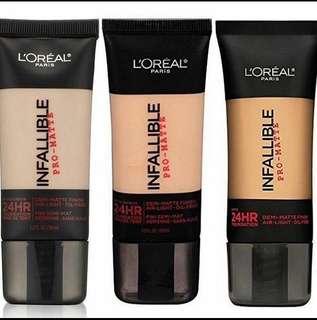 Loreal Infallible pro matte foundation