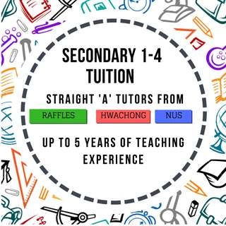Secondary School Private 1-1 Home Tuition