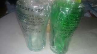 Coca cola plastic cup green & clear
