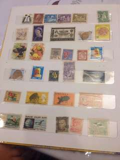 STAMPS FROM ALL AROUND THE WORLD