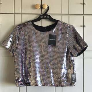 Brand New Forever 21 Sequin Top