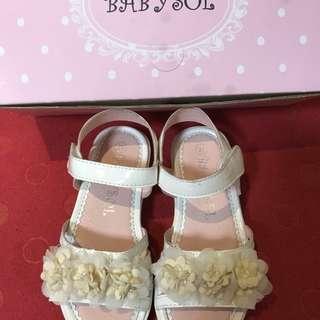 白色公主鞋 童鞋 27號