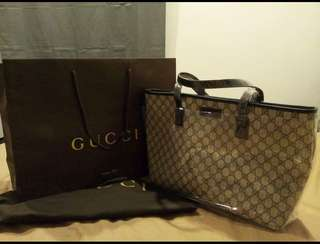 Gucci large zip top