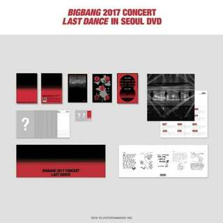 BIGBANG 2017 CONCERT LAST DANCE IN SEOUL DVD