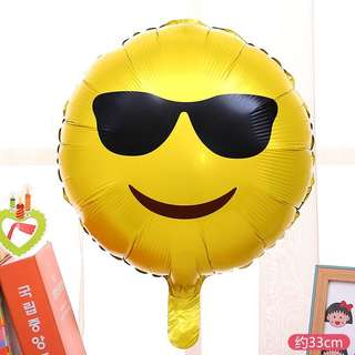 C148 birthday party foil balloon emoji face cool