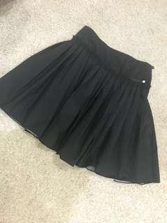 DKNY Flare Black Skater Skirt