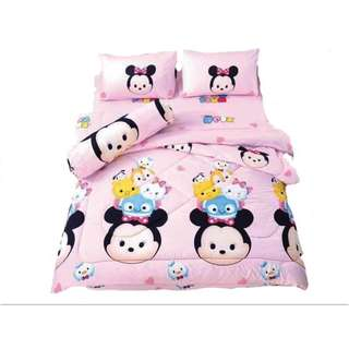 HOT SALE CARTOON 4 in 1 QUEEN SIZE BEDSHEET