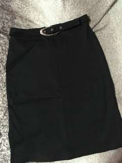 REPRICED!! 70's Black Skirt