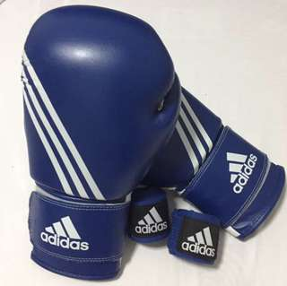 Adidas Boxing / Muay Thai Gloves With Hand Wraps