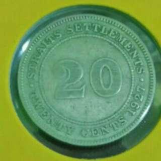 20 Cent Straits Settlements 1927(silver)