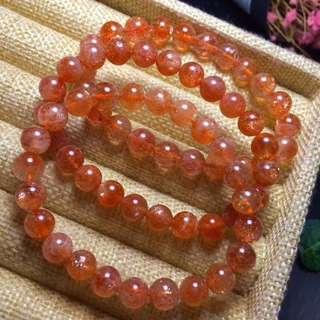 金草莓水晶手鍊