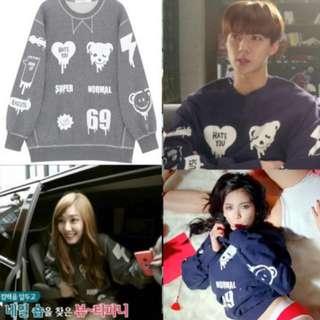 exo sehun, hyuna sweater