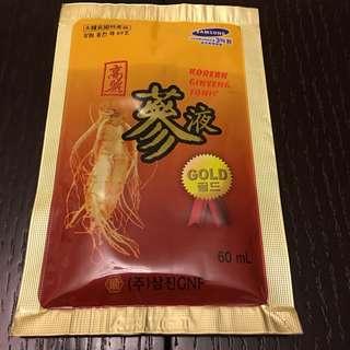 高麗蔘液Korean ginseng tonic